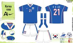 South Korea away kit for the 1998 World Cup Finals.