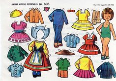 recuerdas a las mariquitas o muñequitas de papel?