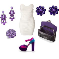 White and Purple, created by Mahsa on Polyvore. Just not the shoes, different shoes...