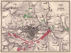 Battle of Smolensk map on 5 August 1812, by Schlacht.