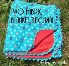 Sewn: Easy-Peasy Two Fabric Blanket  Maybe use this as a cover for my window seat cushion?!