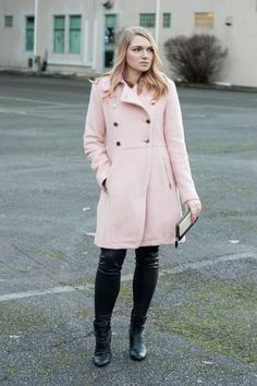Blush pink coat winter outfit on With Love, Amanda. Fashion Blog. Outfit Inspiration. Winter Style.