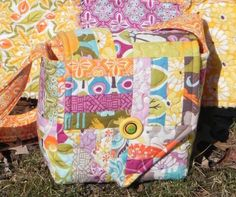 Central Park Camera Bag - Free Sewing Tutorial + Quilting Batting and Basting Tips