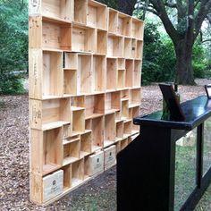 Wine Crate Bookcases