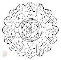 Crochet coaster chart...