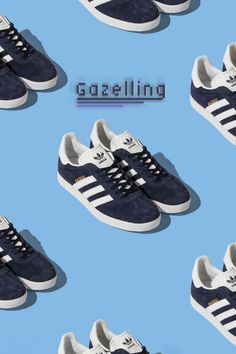 adidas gazelle navy trainers