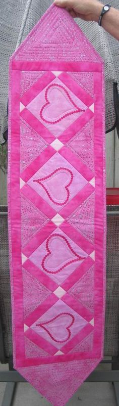 Valentine Table Runner made for my youngest son and his family