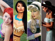 Ariel, Pocahontas, Aurora & Jasmine