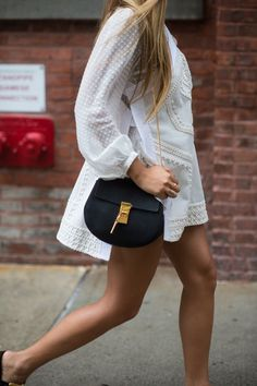 Pin for Later: You're About to Obsess Over NYFW's Best Street Style Accessories Day 1 Chloé bag.