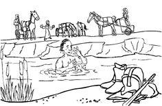 naaman washing in jordan river