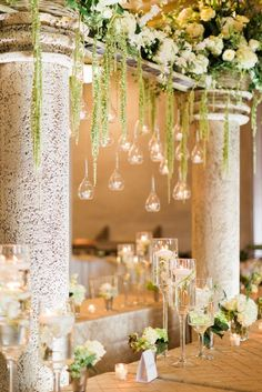 Photographer: Haley Sheffield; Gorgeously unique garden-inspired wedding reception;
