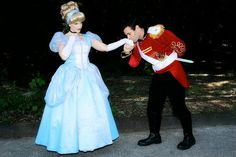 Prince Charming and Cinderella Couples Costume Adult
