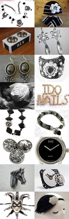 Silver and Black - TeamUNITY - Group 2 by Lona on Etsy--Pinned with TreasuryPin.com #novemberfinds