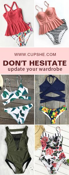 No worry about trending fashion, baby! Various adorable swimsuits will lead you as season changed. Walk into autumn beach with beauty and comfort. Now check them out on Cupshe.com !