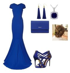 """Atlantis Queen prom look"" by alanna-perez-linares on Polyvore featuring Roland Mouret, Ted Baker and DKNY"