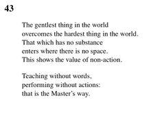43 Tao Te Ching - Lao Tse (Lao Tzu)