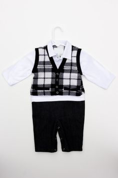 Step (or crawl) out in style with this formal look baby onesie. Baby Onesie, Onesies, Formal Looks, Our Baby, Winter Collection, Boys, Jackets, Style, Fashion