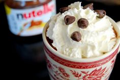 Someone who shall remain nameless grandma, introduced my kids to Starbucks hot chocolate. Otherwise known as kiddie crack. My kids think they're super special going through the drive-thru, getting their own speci… Dessert Drinks, Dessert Recipes, Nutella Hot Chocolate, Delicious Desserts, Yummy Food, Pregnancy Cravings, Sweet Tooth, Baking, Eat