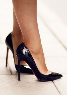 The classic Christian Louboutin black Pigalle 120. Such a classy shoe