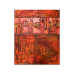 NOVICA Still Life Expressionist Painting (Triptych, 2005) ($874) ❤ liked on Polyvore featuring home, home decor, wall art, expressionist paintings, paintings, textured wall art, novica paintings, spanish paintings, novica masks and red home decor
