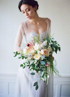 Dusty Blue and Peach Regency Era Wedding Inspiration | Lisa Hessel Photography on @perfectpalette via @aislesociety