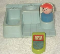 fisher price...I never had this part, the dollhouses did not have bathrooms...sort-of confusing to a kid.
