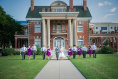 Electric Purple Vintage Inspired Wedding At Thistle Hill Mansion In Fort Worth, Texas