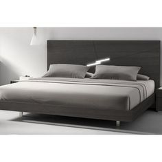 Design a contemporary bedroom around the sleek and stylish J&M Furniture Faro Platform Bed . This beautifully crafted bed was created by fine artisans. Bed Furniture, Furniture Design, Modern Bedroom Furniture Sets, Smart Bed, Modern Platform Bed, Upholstered Platform Bed, Bed Reviews, Panel Bed, Murphy Bed