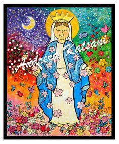 Criação: Andreza Katsani - 100x120 - Nossa Senhora das Graças - Fortaleza -