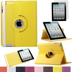 Pandamimi ULAK(TM) 360 Rotating Magnetic PU Leather Case Smart Cover For The New iPad 4 3 2 Generation Tablet with Screen Protector (Yellow) by ULAK, http://www.amazon.com/dp/B00DOQOC4C/ref=cm_sw_r_pi_dp_ysn7rb051XGDQ