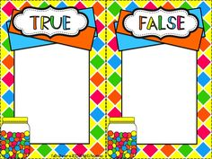 Center Freebies - True/False Subtraction