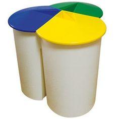 Reciclar basura en casa original contenedor con cubos de for Papelera reciclaje ikea