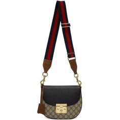 Gucci Brown GG Supreme Padlock Bag (103.110 RUB) ❤ liked on Polyvore featuring bags, handbags and shoulder bags