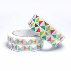 Masking tape triangles métallisés