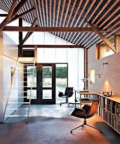 I kind of want to live in an old barn that's been renovated in a contemporary style.