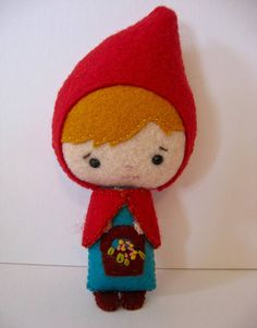 Little Red Riding Hood Sweetest Small Felt Teacup Doll