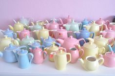 Maison indésirable; my mum used to collect these lovely pastels...