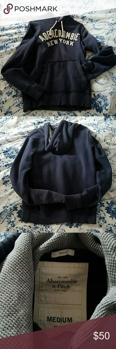 A & F Jacket with Hood Abercrombie & Fitch Hoodie, Male, Medium Size, Navy Blur. Original and authentic thick quality. They don't make this kind of quality and style anymore. Rare! Abercrombie & Fitch Other