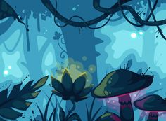 Blue jungle - animation by Kaeleen on deviantART