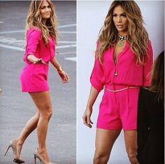 Jennifer lopez pink jumper