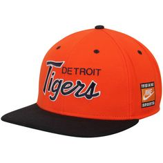 detailed look 4575a 7802e Men s Detroit Tigers Nike Orange Black Cooperstown Collection SSC Throwback  Adjustable Snapback Hat, Your Price   29.99