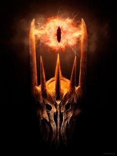Eye of Sauron. by Hersson Piratoba. I like the use of warm color and the technique of blending that makes the eye look like it is fire.  The image looks like a photo graph but we know it cannot be.