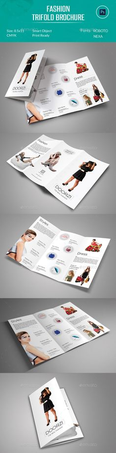 Fashion Trifold Brochure by OrcShape Fashion Trifold Brochure Template can be used on any business purpose or others. It is fully editable & easily photo changes optio