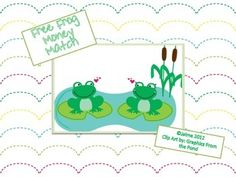 Classroom Freebies: Frog Themed Money Match Game