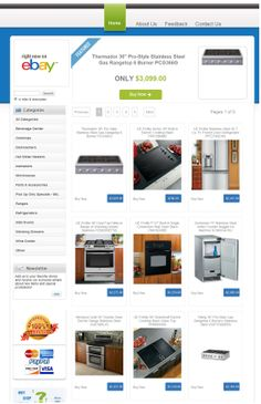 appliancedirect2you eBay store featuring a Store Designer eBay store design template.