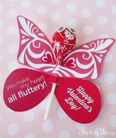 This butterfly printable Valentine is a darling free printable. These butterflies make great classroom Valentines.