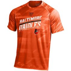 Under Armour Baltimore Orioles Orange Tech Novelty Launch Slanted Performance…