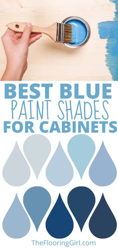 The most popular blue and navy shades of paint for kitchen cabinets and bathroom vanities. Navy Paint Colors, Kitchen Paint Colors, Gray Painted Walls, Grey Paint, Interior Painting, Diy Painting, Navy Home Decor, Paint Shades, Blue Furniture