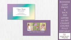 Business Card Template  812 by DovieScottPhoto on Etsy, $5.59