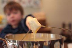 Fondue fun for the whole family Good, kid-friendly fondue. Kids ate a ton of veggies. Potatoes were the best. Fondue Recipe For Kids, Fondue Recipes, Cooking Recipes, Kabob Recipes, Copycat Recipes, Beef Recipes, Healthy Recipes, One Pot Meals, Kids Meals